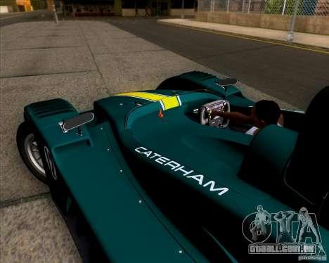 Caterham Lola SP300R para GTA San Andreas vista traseira