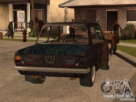 ZAZ-968 abandonado para GTA San Andreas esquerda vista