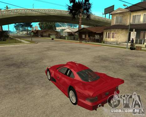 Mercedes-Benz CLK GTR road version para GTA San Andreas esquerda vista