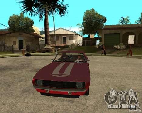 1969 Yenko Chevrolet Camaro para GTA San Andreas vista traseira