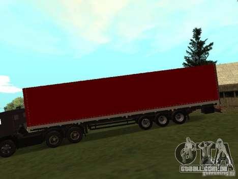 Nefaz 93344 vermelho para GTA San Andreas esquerda vista