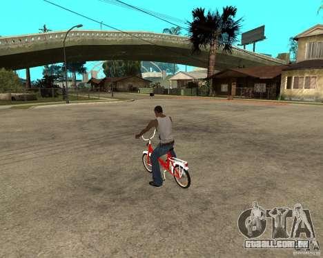 Tair GTA SA mota mota para GTA San Andreas esquerda vista