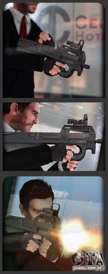FN P90 para GTA 4 por diante tela