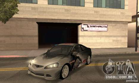 Acura RSX New para GTA San Andreas vista superior
