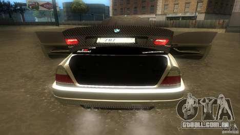 BMW E46 M3 Coupe 2004M para GTA San Andreas vista interior