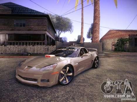 Chevrolet Corvette C6 Z06 Tuning para GTA San Andreas esquerda vista