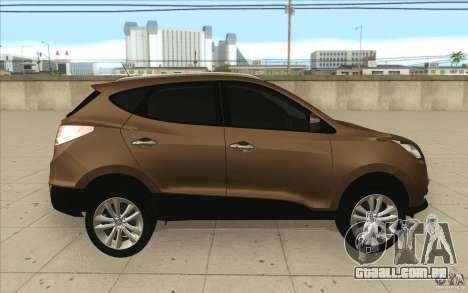 Hyundai ix35 para GTA San Andreas vista superior