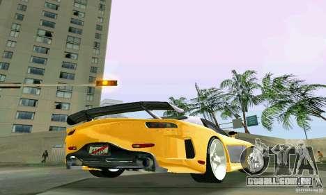 Mazda RX7 VeilSide para GTA Vice City vista traseira