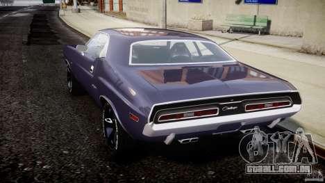 Dodge Challenger 1971 para GTA 4 traseira esquerda vista