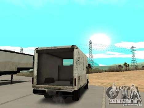 New Benson para GTA San Andreas traseira esquerda vista
