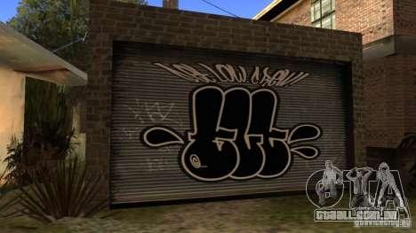 Nova casa CJ (Cj nova casa GLC prod v 1.1) para GTA San Andreas por diante tela