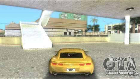 Chevrolet Camaro para GTA Vice City vista traseira esquerda