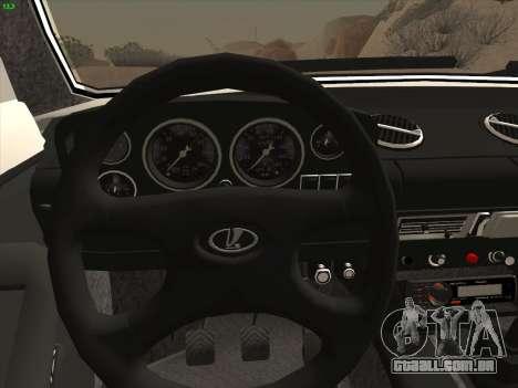 VAZ 2121 Niva para GTA San Andreas vista traseira