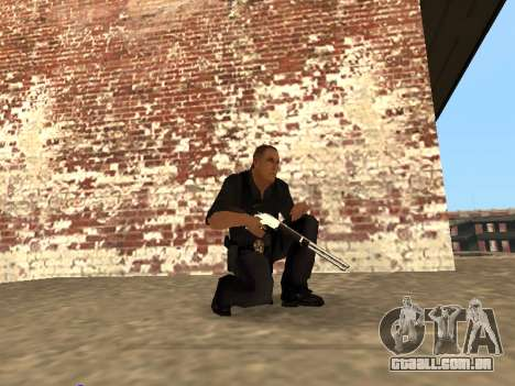 Chrome and Blue Weapons Pack para GTA San Andreas quinto tela