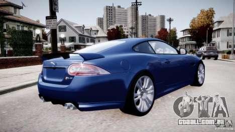 Jaguar XKR-S 2012 para GTA 4 vista inferior