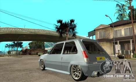 Renault 5 Tuned para GTA San Andreas