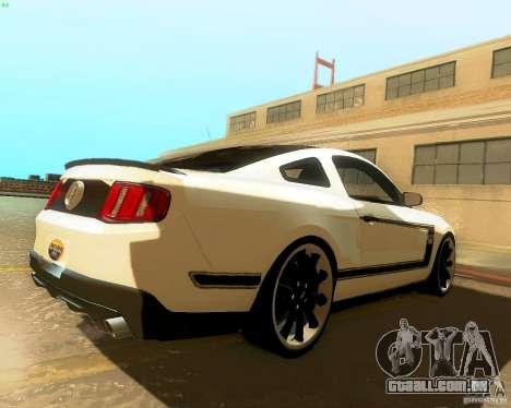 Ford Mustang Boss 302 2011 para GTA San Andreas traseira esquerda vista