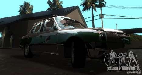 BMW E30 Sedan Police para GTA San Andreas vista traseira
