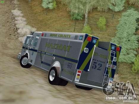 Pierce Fire Rescues. Bone County Hazmat para GTA San Andreas vista interior