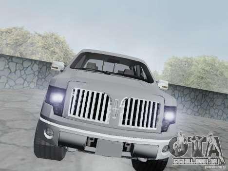Lincoln Mark LT 2013 para GTA San Andreas vista traseira