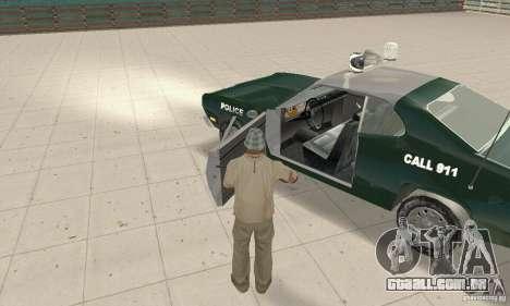 Plymouth Duster 340 Police para GTA San Andreas vista traseira