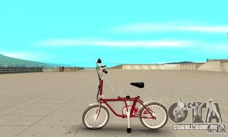 Child Bicycle para GTA San Andreas esquerda vista