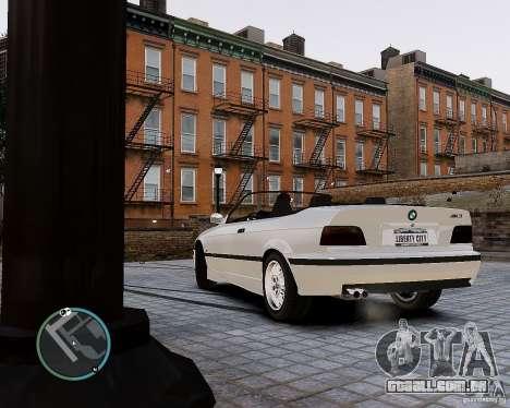 BMW M3 e36 1997 Cabriolet para GTA 4 esquerda vista