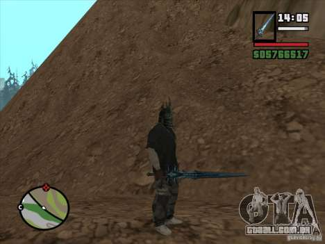 Frostmorn-espada de WoW Lich King para GTA San Andreas por diante tela