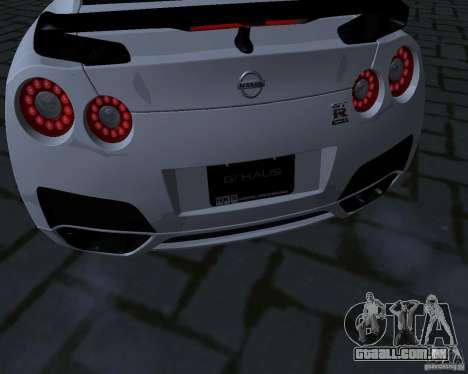 Nissan GTR-35 Spec-V para GTA San Andreas vista interior