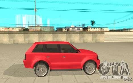 Huntley Sport de GTA 4 para GTA San Andreas esquerda vista