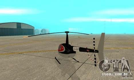 Robinson R44 Raven II NC 1.0 pele 2 para GTA San Andreas vista direita