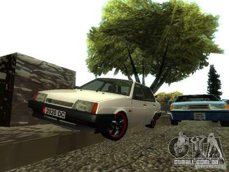 VAZ 21099 v. 2 para GTA San Andreas vista direita
