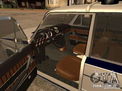 Polícia VAZ 2103 para GTA San Andreas traseira esquerda vista