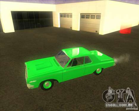 Dodge 330 1963 Max Wedge Ramcharger para GTA San Andreas traseira esquerda vista