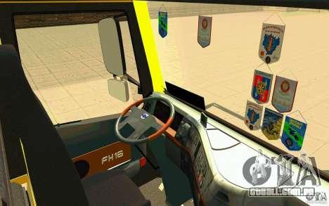 Volvo FH16 Globetrotter DHL para GTA San Andreas vista traseira