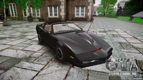 KITT Knight Rider para GTA 4 vista interior