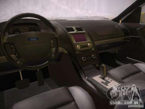 Ford Falcon para GTA San Andreas vista interior