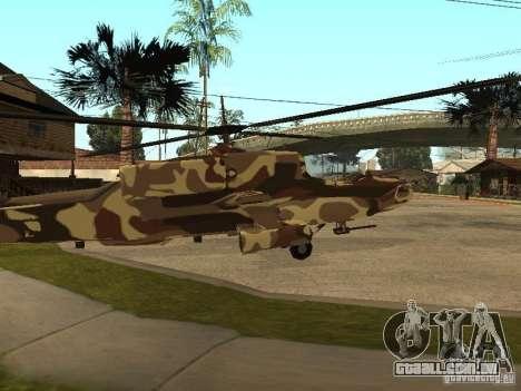 Novas texturas para o caçador para GTA San Andreas traseira esquerda vista