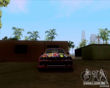Lexus IS300 Hella Flush para GTA San Andreas vista superior