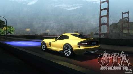 Dodge SRT Viper GTS 2012 V1.0 para vista lateral GTA San Andreas
