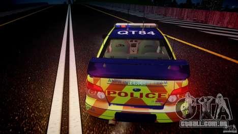 Subaru Impreza WRX Police [ELS] para GTA 4 vista superior