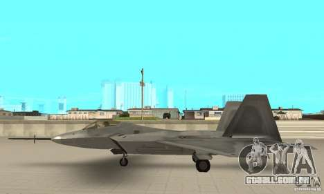 YF-22 Grey para GTA San Andreas esquerda vista