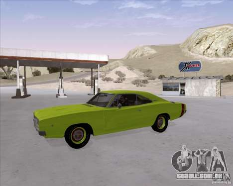 Dodge Charger RT 440 1968 para GTA San Andreas vista interior