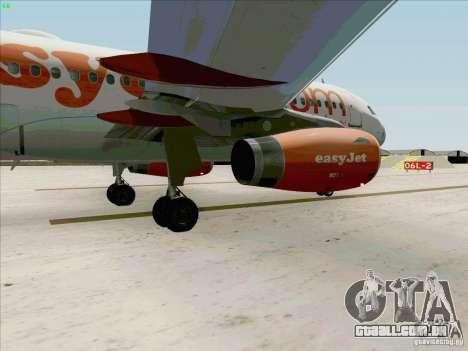 Airbus A319 Easyjet para GTA San Andreas vista interior