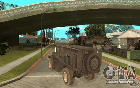 Military Truck para GTA San Andreas vista direita