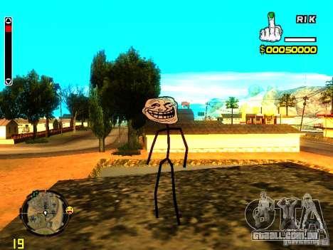 TrollFace skin para GTA San Andreas segunda tela