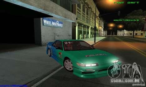 Nissan Silvia S13 Tunable para GTA San Andreas vista inferior