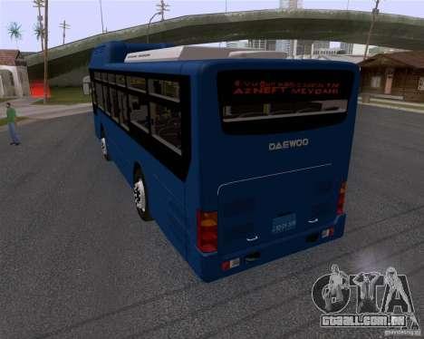 Daewoo Bus BAKU para GTA San Andreas esquerda vista