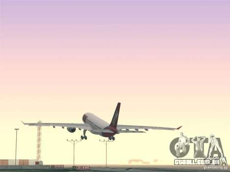 Airbus A330-223 TAM Airlines para as rodas de GTA San Andreas
