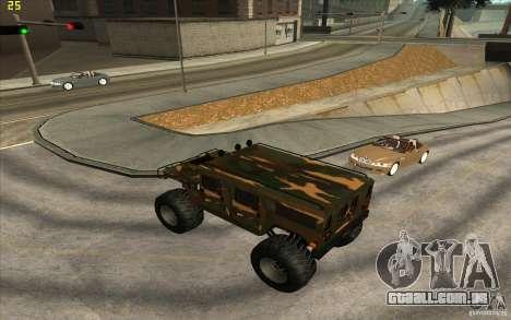 Hummer H1 Humster para GTA San Andreas esquerda vista